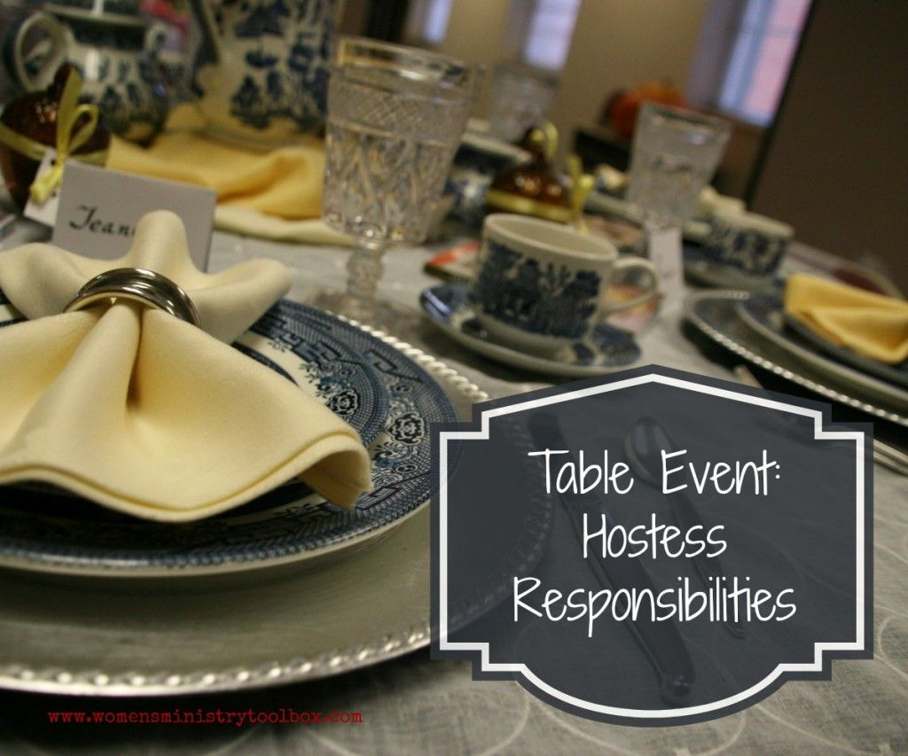 Table Event Hostess Responsibilities Womens Ministry