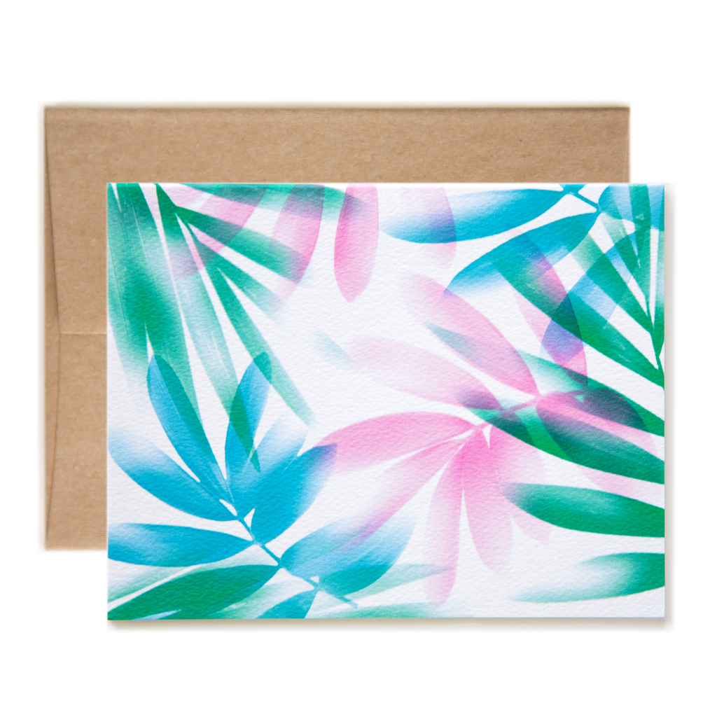 Airbrush Leaves Notecard Air brush painting, Note cards