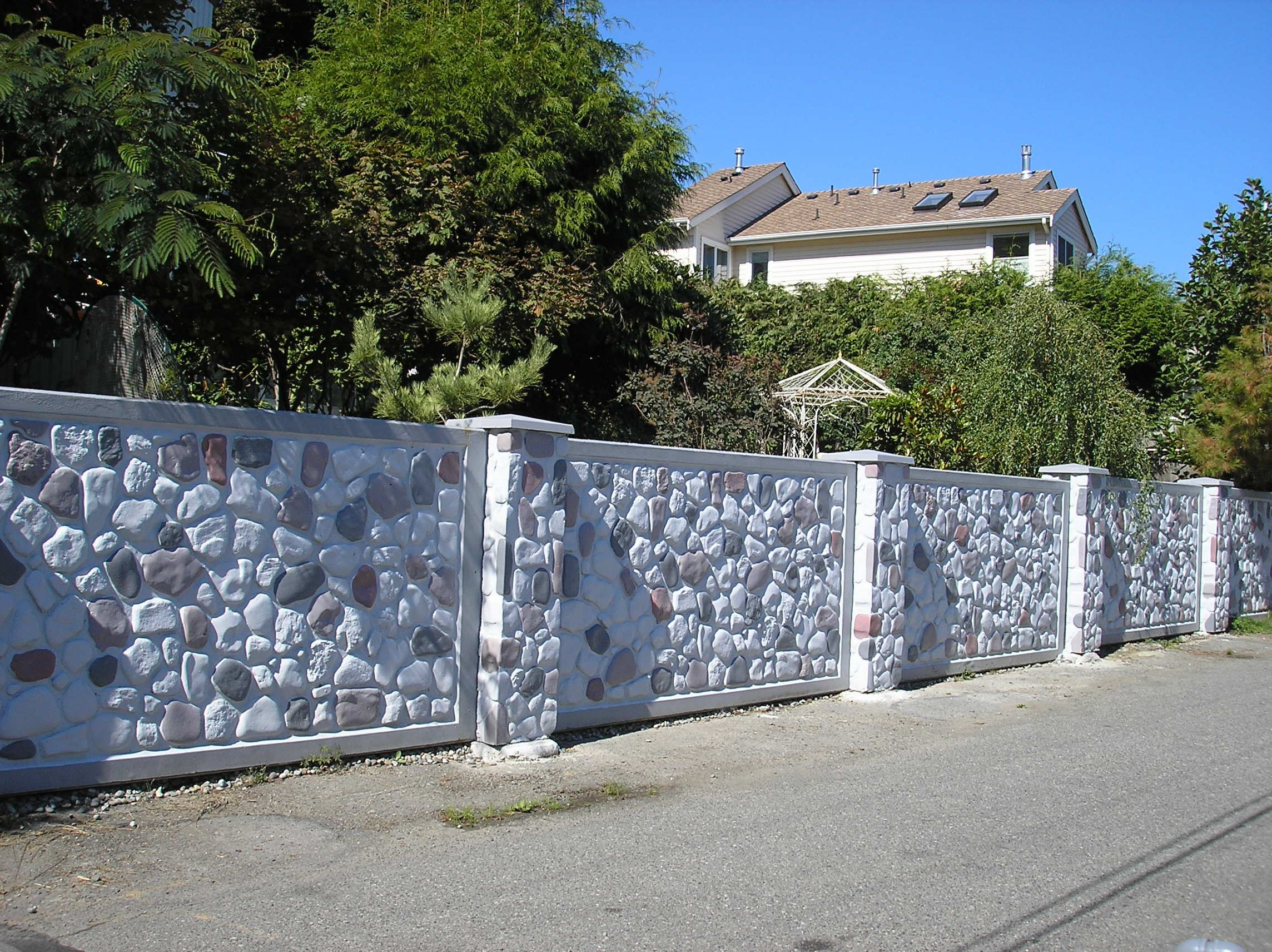 We Install Pre Cast Concrete In Lots Of Styles And Looks Superior Fence 503 760 7725 Door Gate Design Fence Design Fence