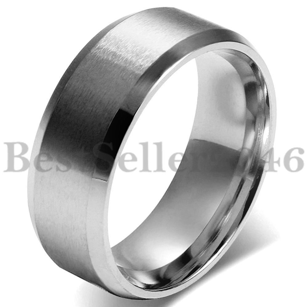 Details Zu Edelstahl Ring Silber Band Valentine Lieben Paar
