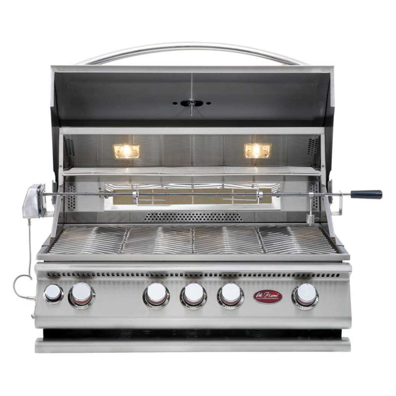Cal Flame 4 Burner Built In Convection Grill With Rotisserie Built In Gas Grills Cal Flame Built In Grill