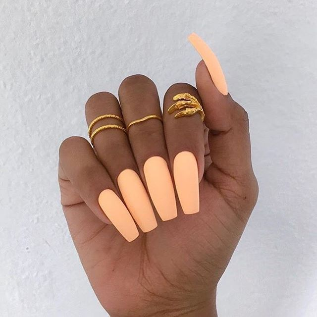 Summer Time Nails Peach Nails Cute Acrylic Nails Long Nails