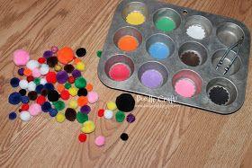 Doodle Craft...: Pom Pom Animals and Color Match up Game!