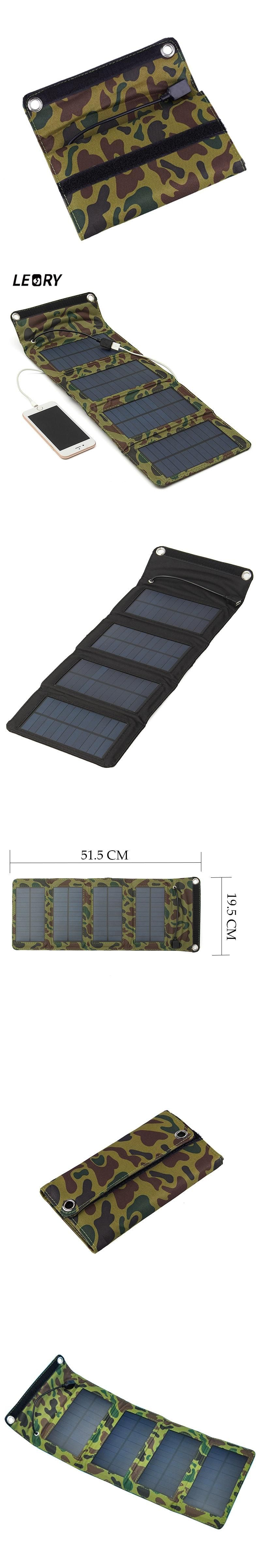portable 7w outdoor solar panel foldable camping travel solar