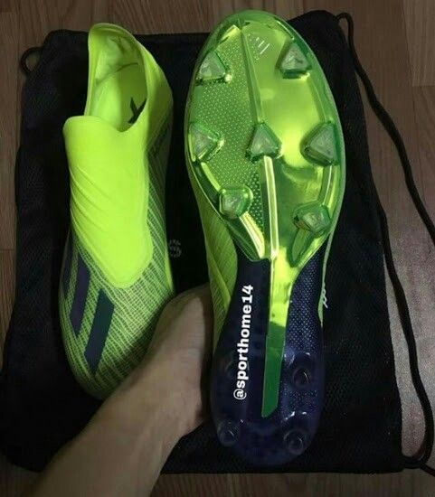 All-new laceless next-gen solar yellow adidas x 18 boots leaked