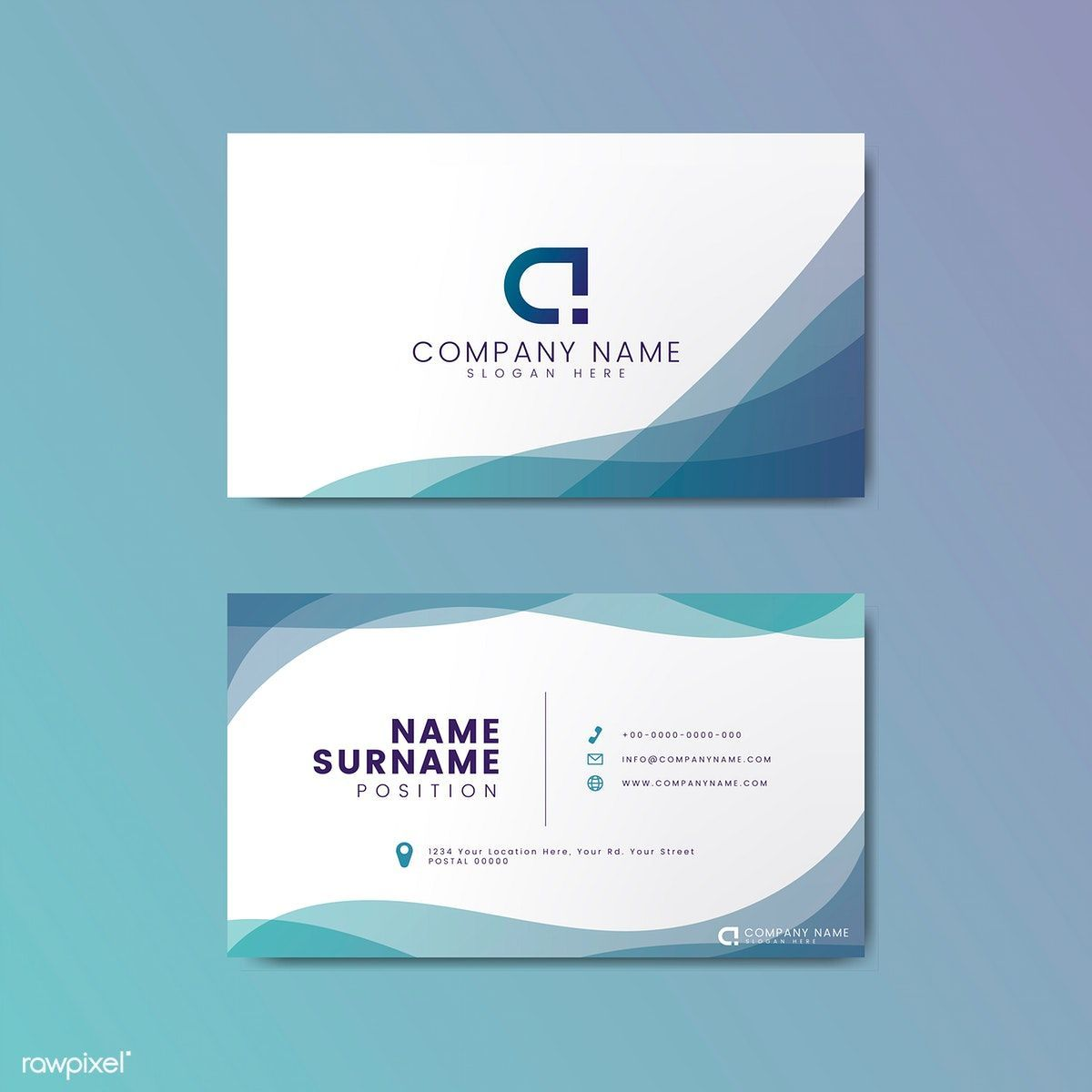 The mesmerizing Modern Geometric Business Card Design  Free Image