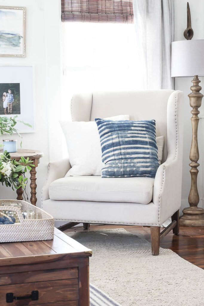 Inspiration for Every Room / Gorgeous farmhouse style living area with throw pillows and farmhouse decor. #livingroomdecor #farmhousedecor