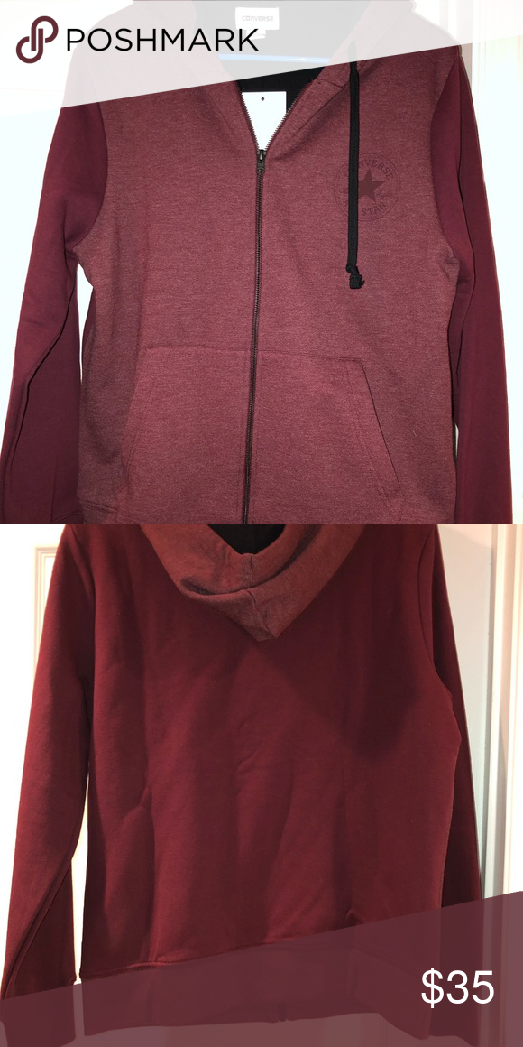 5881a8351ca3 Converse All Star Hoodie Brand New Converse All Star Hoodie! Thick material  and would be perfect for the winter time! It is in the color burgundy  Converse ...