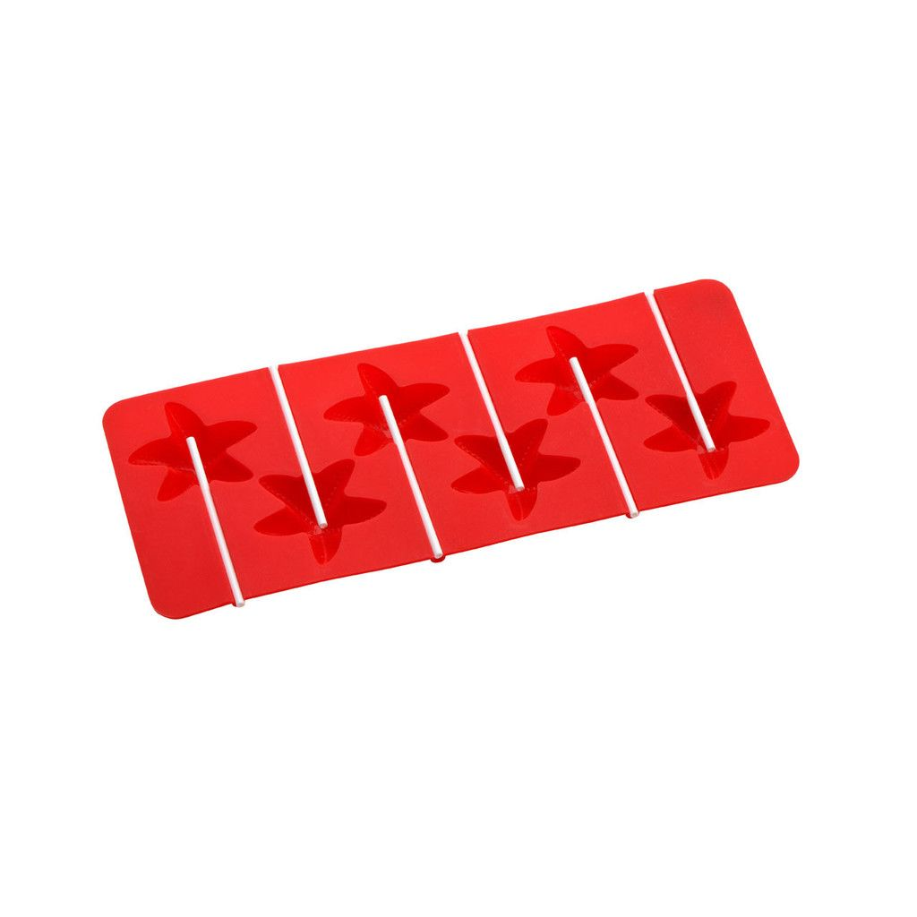 Cake Pop Mould Red Silicone Pp Sticks