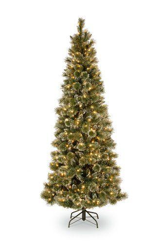 National Tree Company 712Feet Glittery Bristle Pine Slim