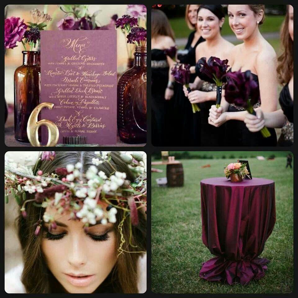 Deep plum  Wedding inspirations  Pinterest  Wedding and Weddings