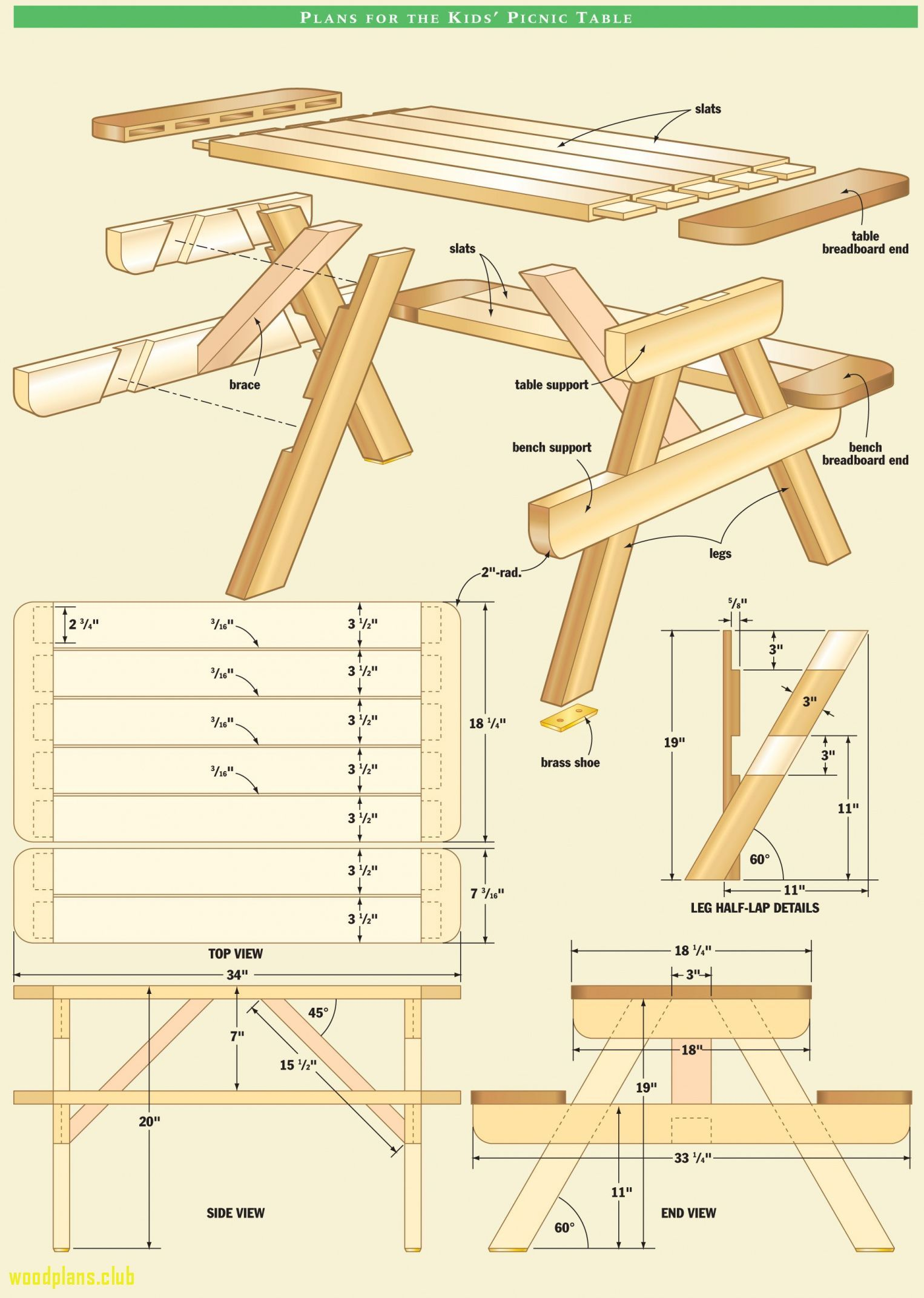 6+ Picnic Table Woodworking Plans - Best Way to Paint Furniture