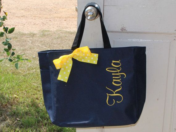 11 Personalized Bridesmaid Tote Bags Gift Bridemaid Wedding Party Name