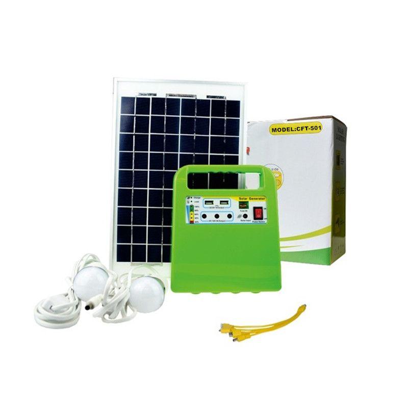 Mini portable solar panel home lighting systems kit with radio mp3 ...