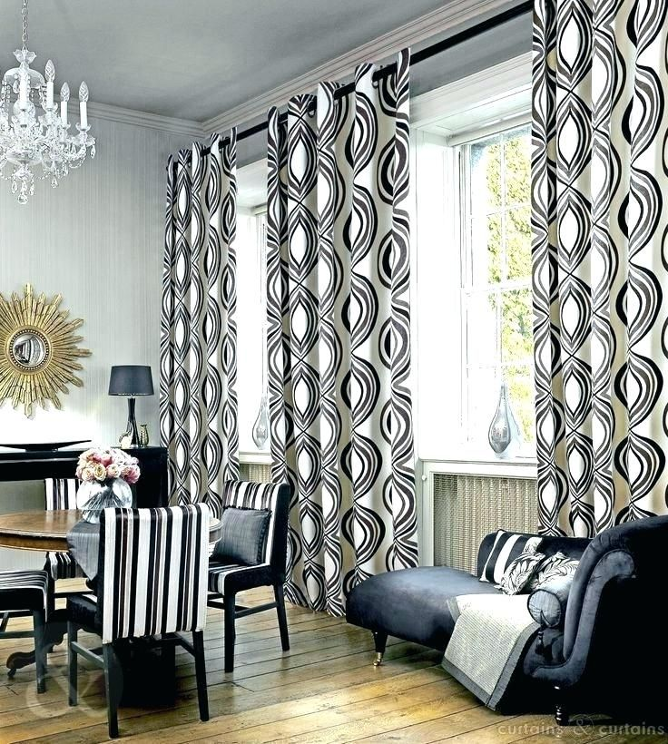 Black And White Living Room Curtains Grey Black And White Curtains