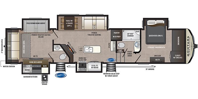 2020 Keystone Montana High Country 362RD 28241 Floor