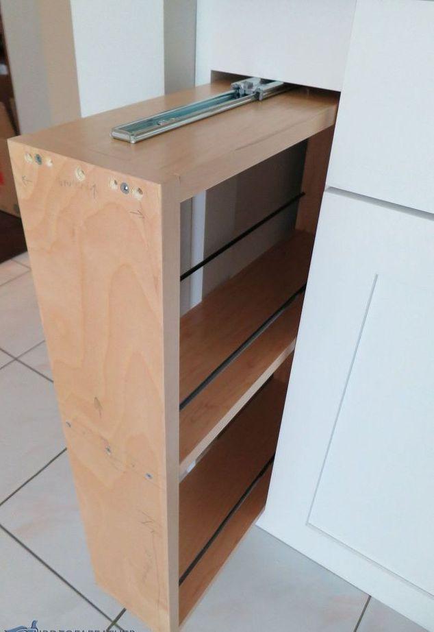 versteckte Küche Lagerung eine Abdeckblende in ein ausziehbares ...
