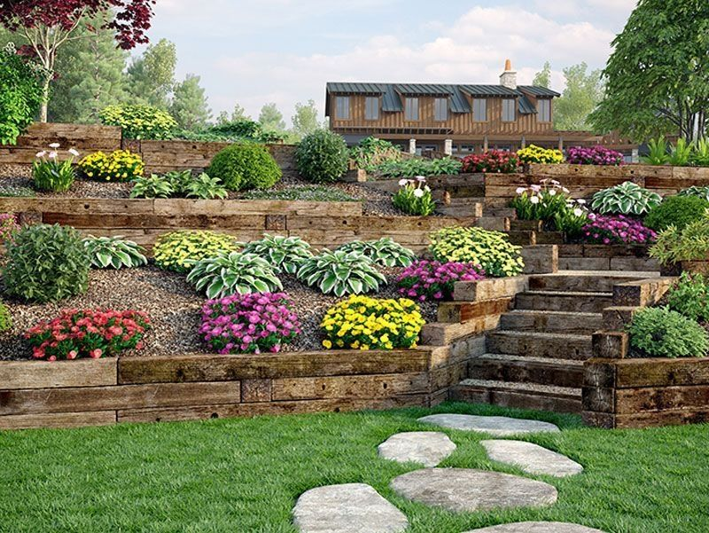36 Awesome Terrace Landscaping Ideas Backyard Hill Landscaping