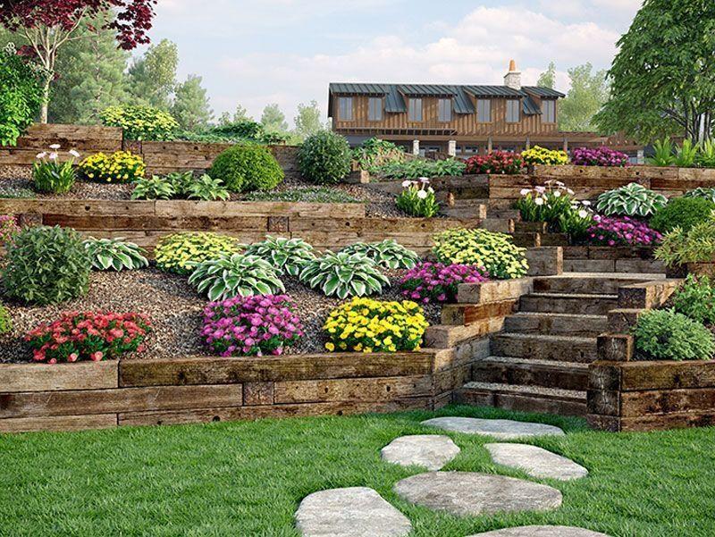 36 Awesome Terrace Landscaping Ideas | Backyard hill ... on Terraced Yard Landscape Ideas id=23851