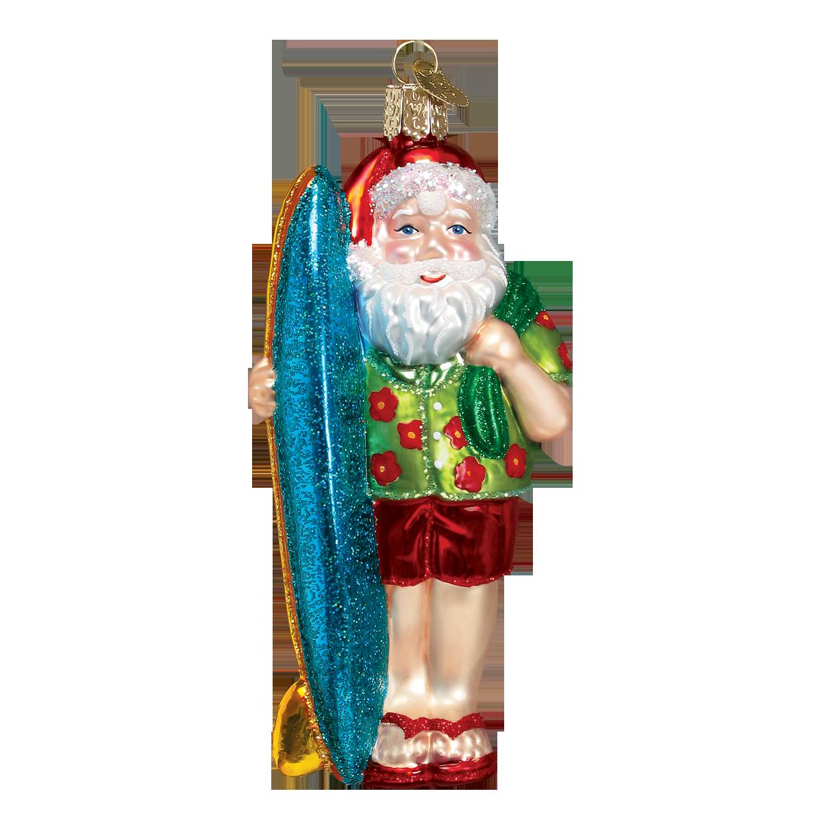 Christmas Tree Ornament Margaritaville Parrot Surfing Jim Shore NEW w// gift box