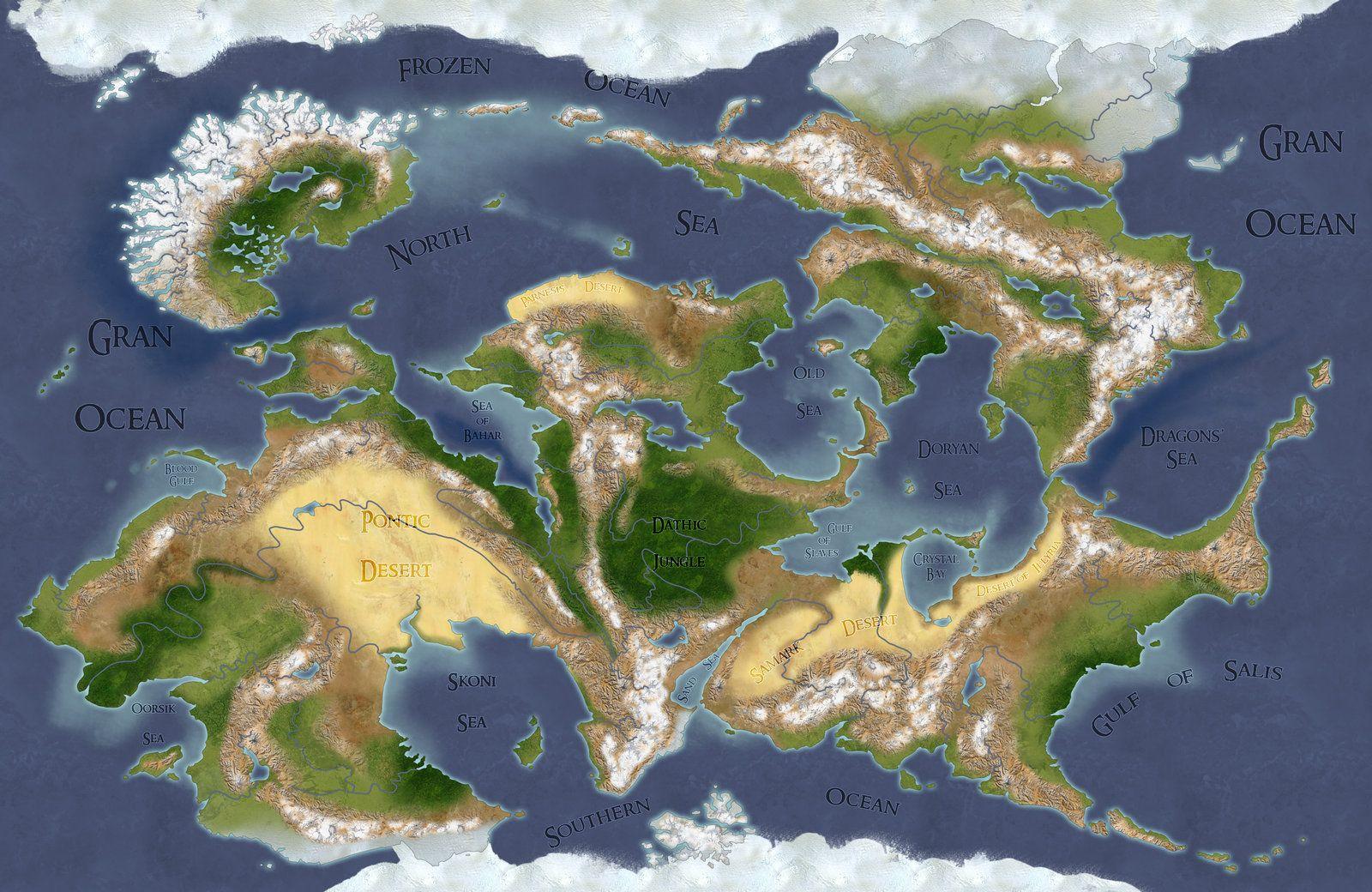 World Map Maker D&D Original Map by gamera1985.deviantart.on @DeviantArt | Fantasy
