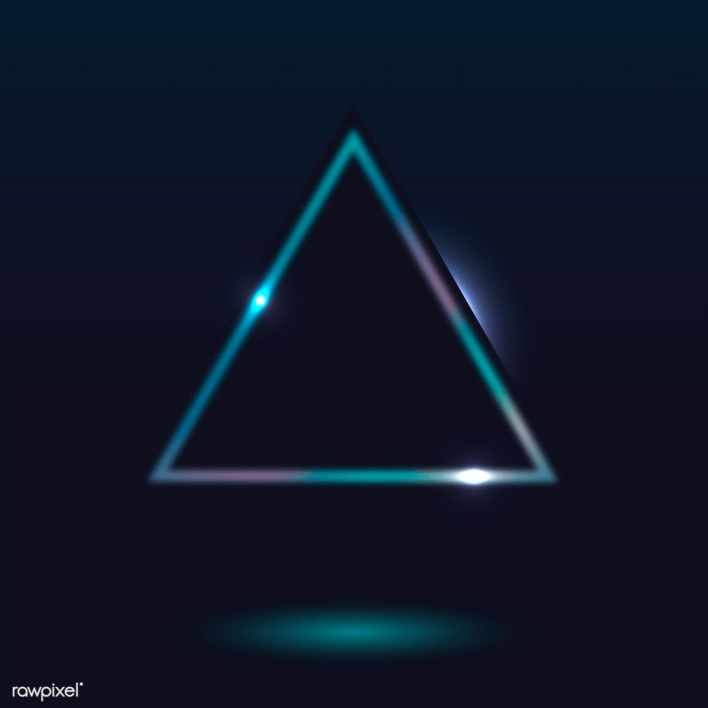 Retro Neon Triangle Badge Vector Free Image By Rawpixel Com Ningzk V Taus Neon Vector Free Neon Backgrounds