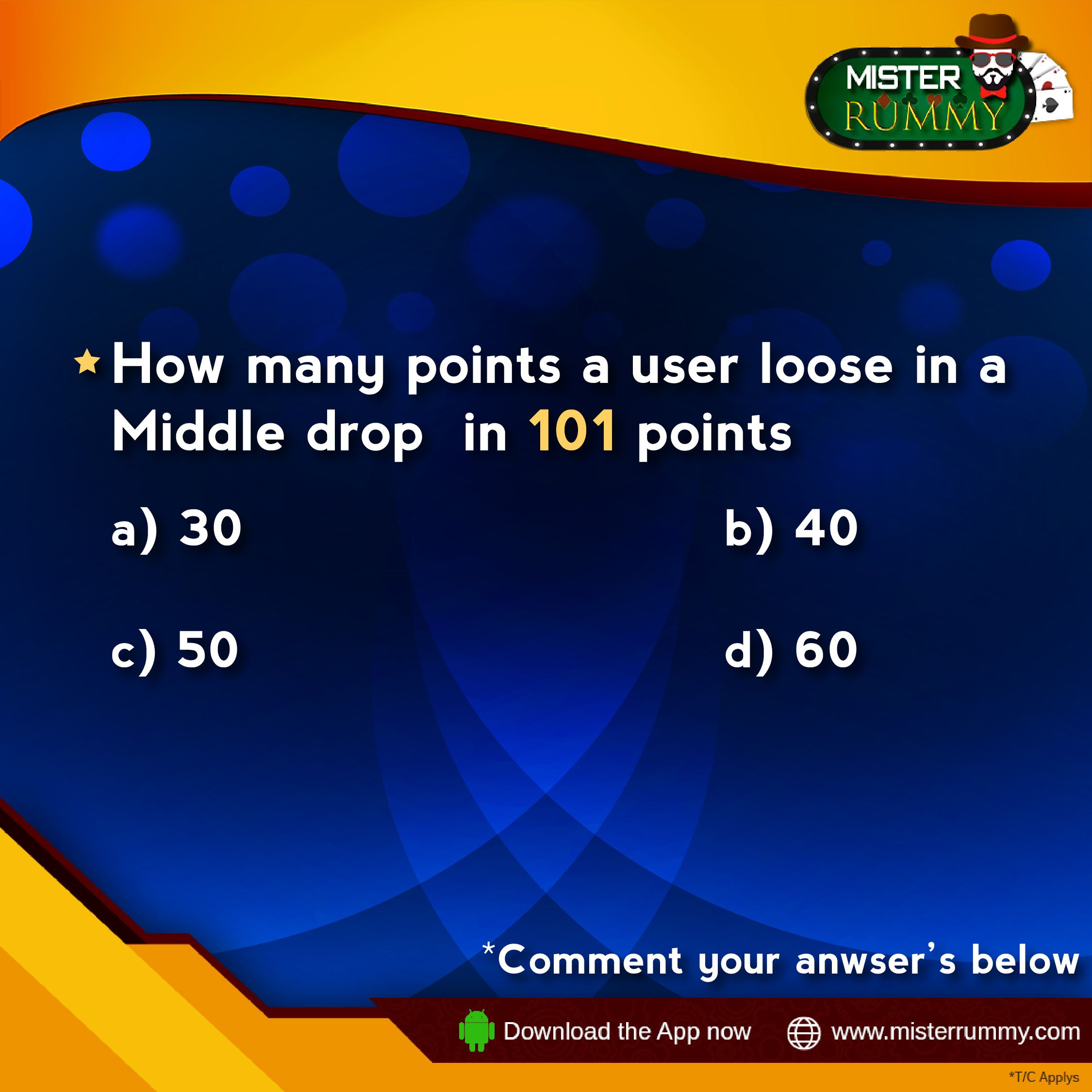Test your knowledge on gaining and loosing of points in