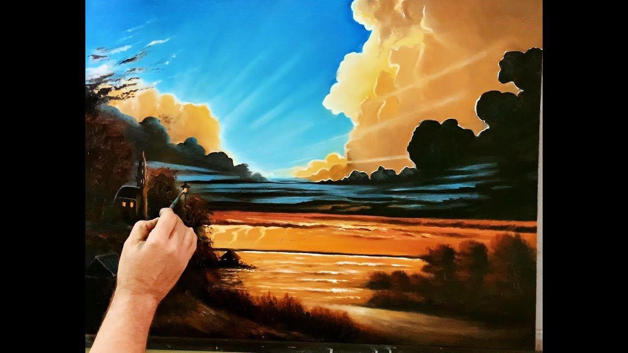 مرحبا شباب في هذا البرنامج التعليمي للرسم الفني سوف أريكم ما يجب فعله وما يجب عليك فعله حول كيفية رسم المناظر الطبيعية الواقعية وا Painting Oil Painting Art