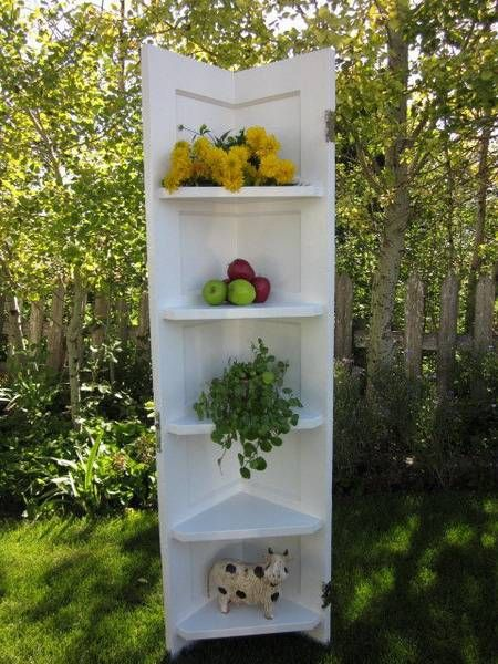25 ways to reuse and recycle wood doors for shelving units for Ways to recycle wood