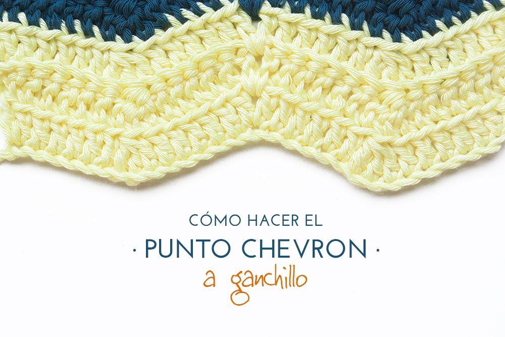 como-hacer-el-punto-chevron-zigzag-ganchillo | Para Tejer Crochet ...