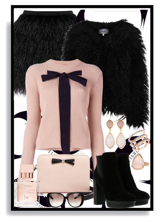 """""""Lady"""" by justincase-i ❤ liked on Polyvore featuring Raoul, Dry Lake, Rochas, Kate Spade, Hogan, Dina Mackney, EF Collection, SonyaRenée, Gucci and Maison Francis Kurkdjian"""