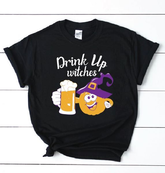 Halloween T Shirt Ideas Diy.Drink Up Witches T Shirts For Halloween Halloween