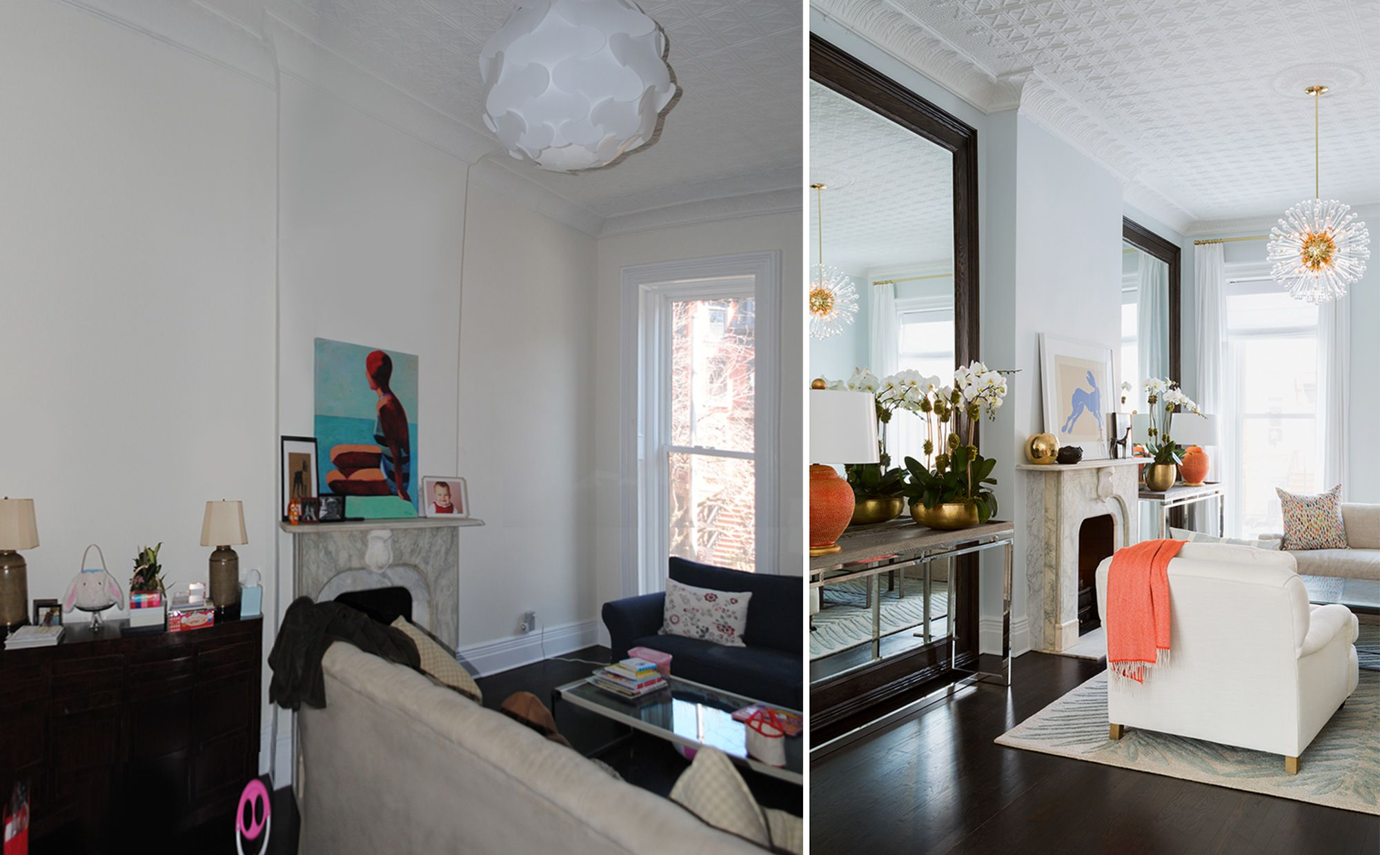 Home interior angles park slope brownstone  living room angle view by chango u co