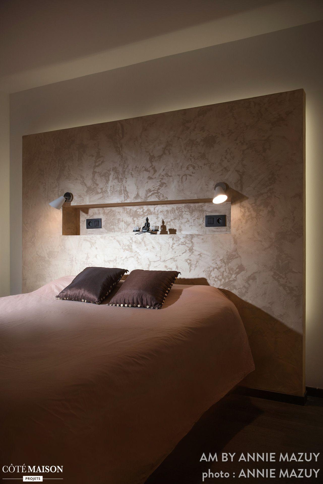 Une chambre avec une ambiance saharienne ou le sable de la
