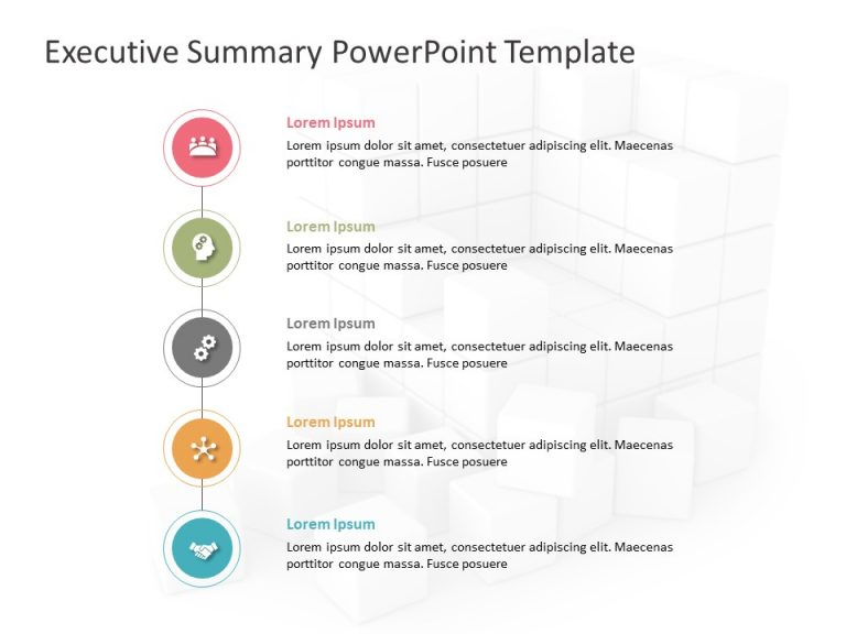 Executive Summary PowerPoint Template 32 in 2020