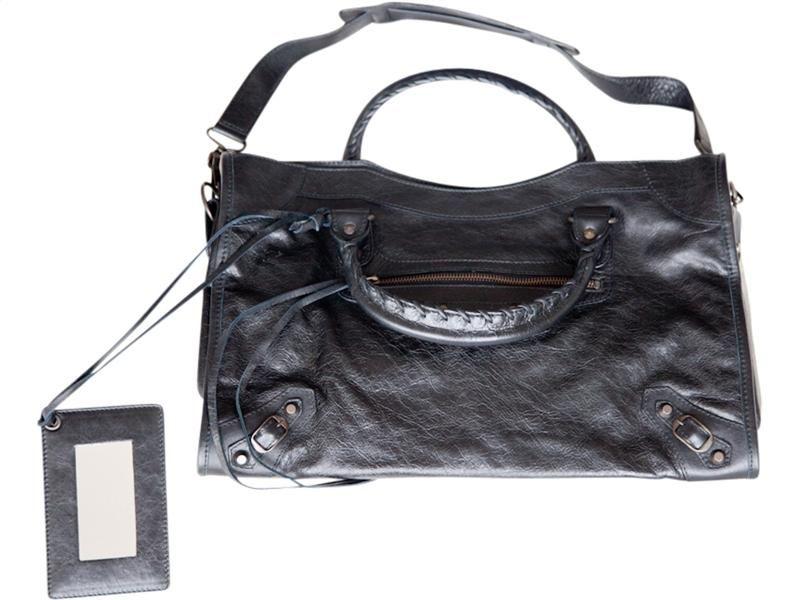 BALENCIAGA -  Black City Handbag