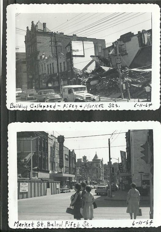 Vintage Original Photos 1964 Parkersburg Wv Collapsed Building 5th Market West Virginia History Parkersburg Wv Parkersburg