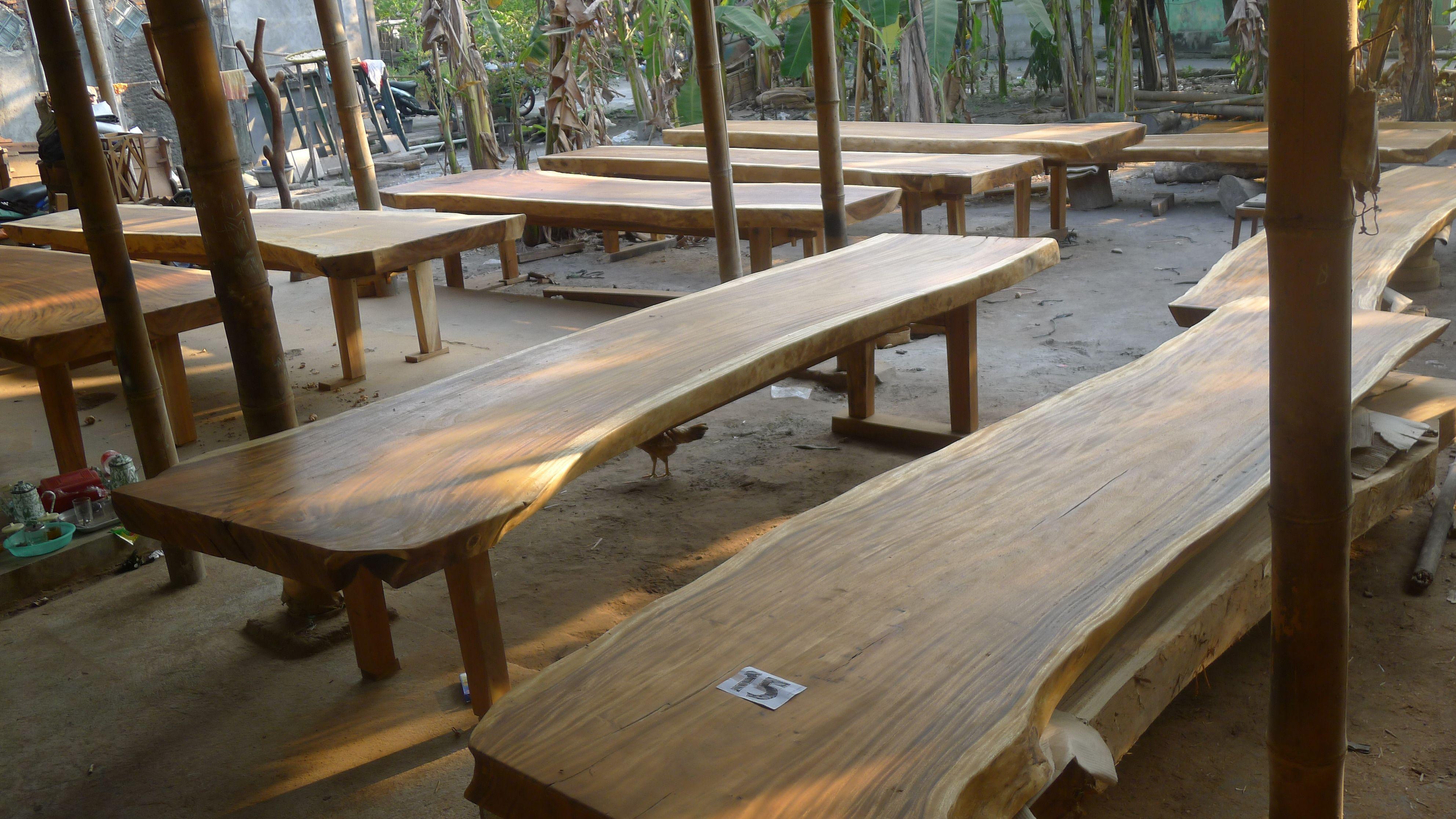 Supplier Wholesaler Wood Slab Table Yogyakarta Indonesia