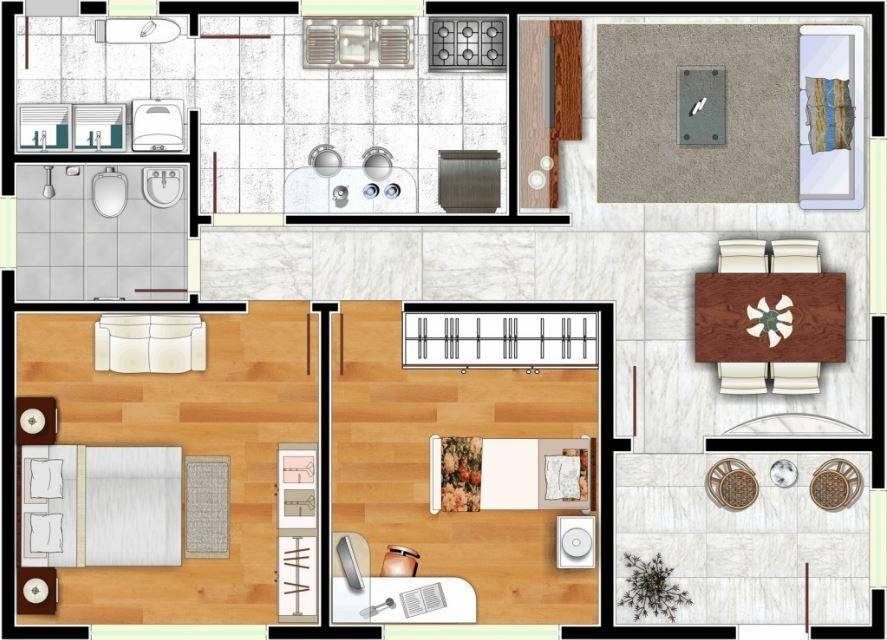 Planos de casas de 6x10 casas y departamentos for Modelos mini departamentos interiores