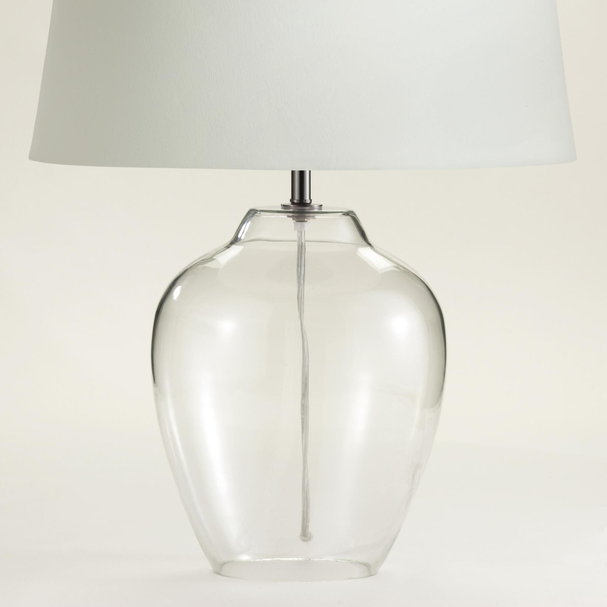 Clear glass table lamp base clear glass table lamp table lamp clear glass table lamp base world market geotapseo Image collections