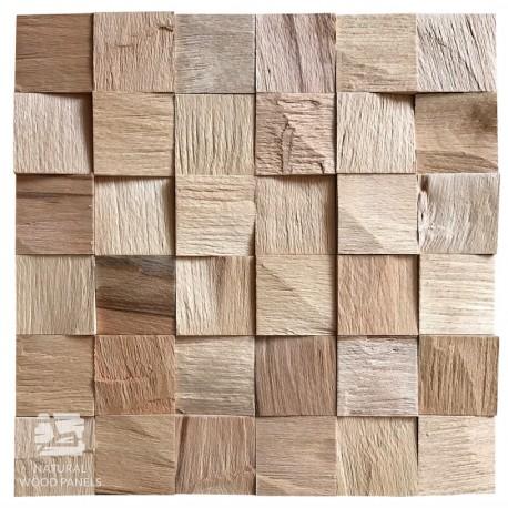 Panel Z Aplikacja Naturalnych Kostek Bukowych O Lupanej Recznie Strukturze Efekt Naturalnego 3d Kazda Z Kostek 5x5cm Gr 1 5cm Wood Paneling Wood Natural Wood