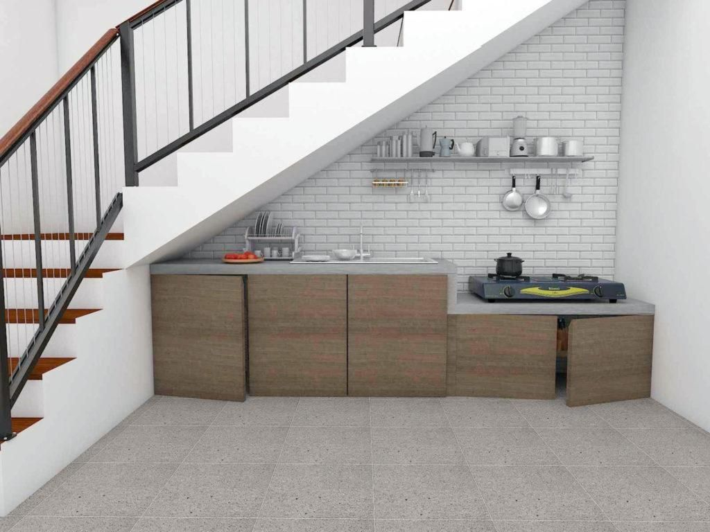 Desain Dapur Minimalis Bawah Tangga di 5  Rumah, Desain, Model