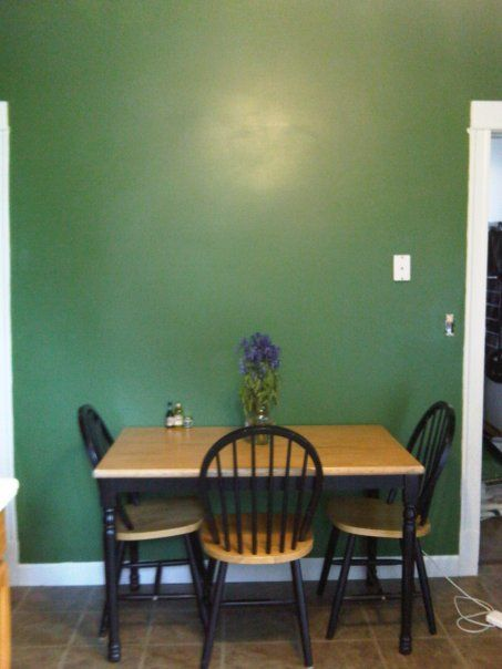 "green kitchen, i painted my kitchen ""greenfield"" green from"