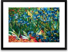 Hand Designed Silk Art, Silk Embroidery - Irises - This is a gorgeous piece of silk embroidery.  It's amazing what embroidery machines can do now days.