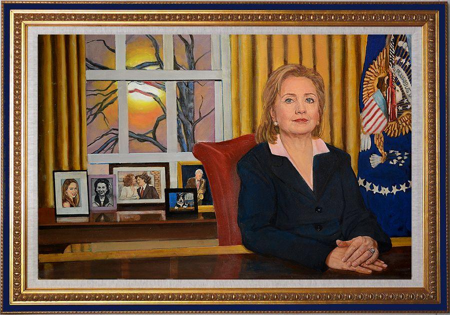 Hillary Clinton Art Gallery, oil paintings