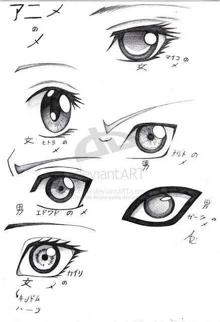 Como Desenhar Manga Desenho De Olhos Anime Olhos Desenho Olhos