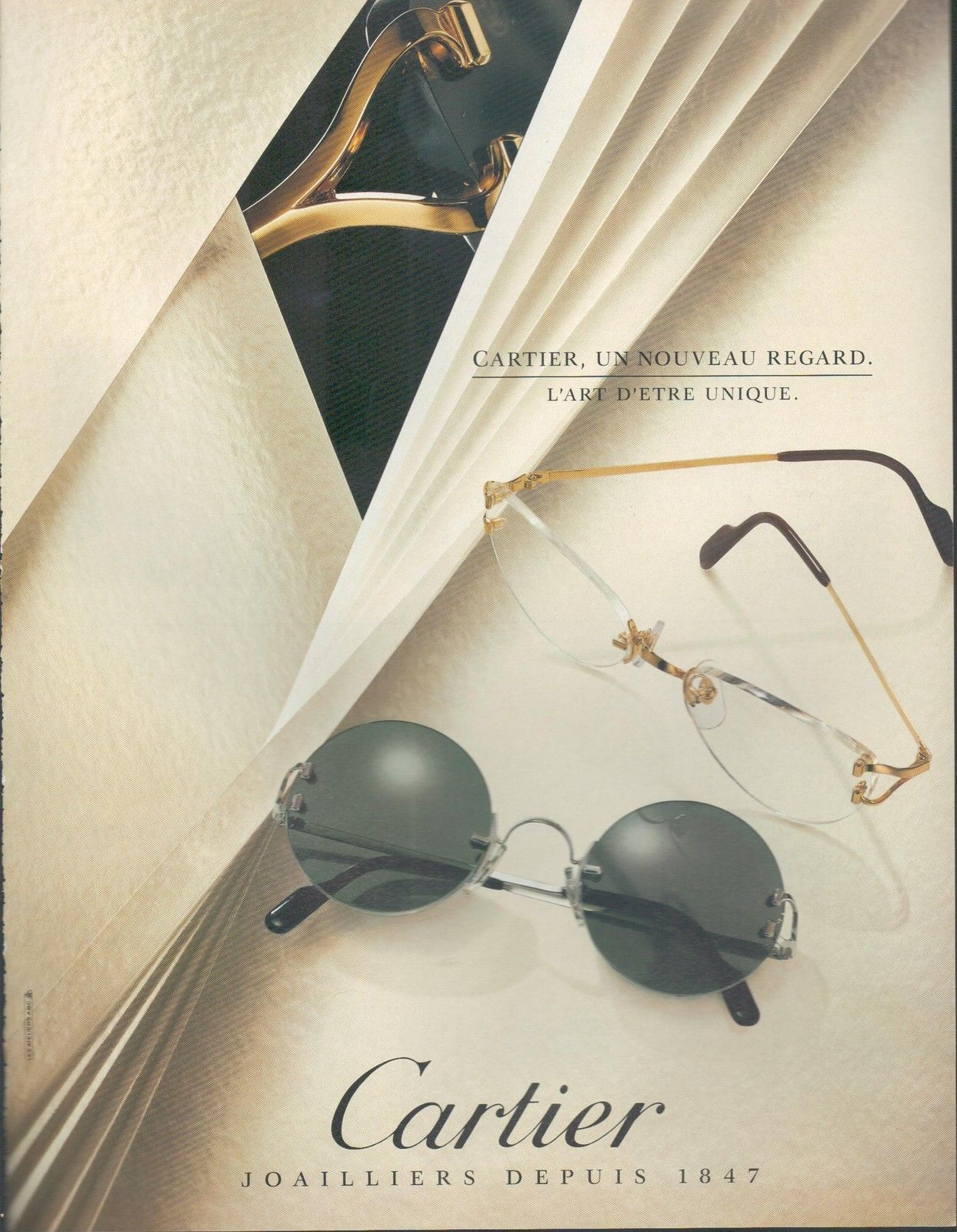 Cartier 1994 ad | Vintage eyewear advertising | Pinterest