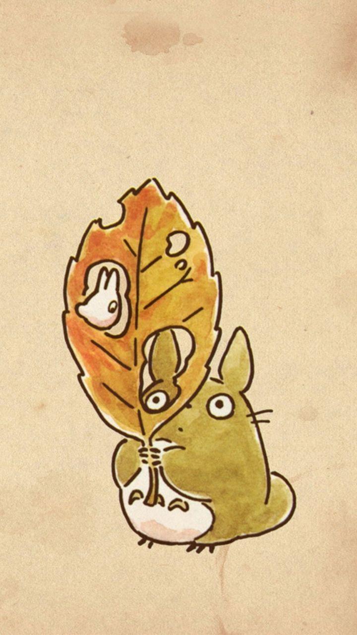 A cute Totoro watercolour. :)