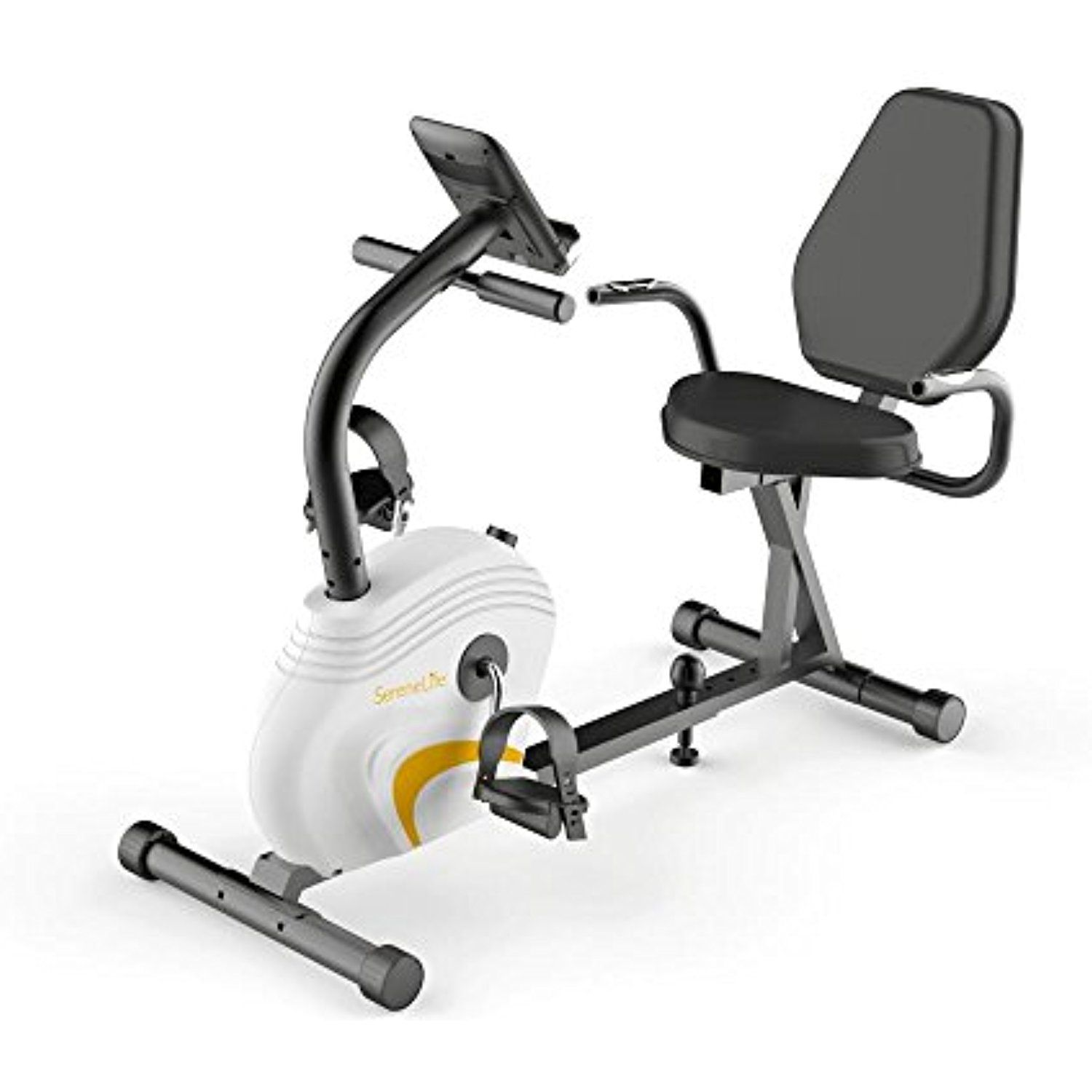 Serenelife Exercise Bike Recumbent Stationary Bicycle Pedal Cycling Trainer Fitness Machine Equipment W Recumbent Bike Workout Bicycle Workout Biking Workout