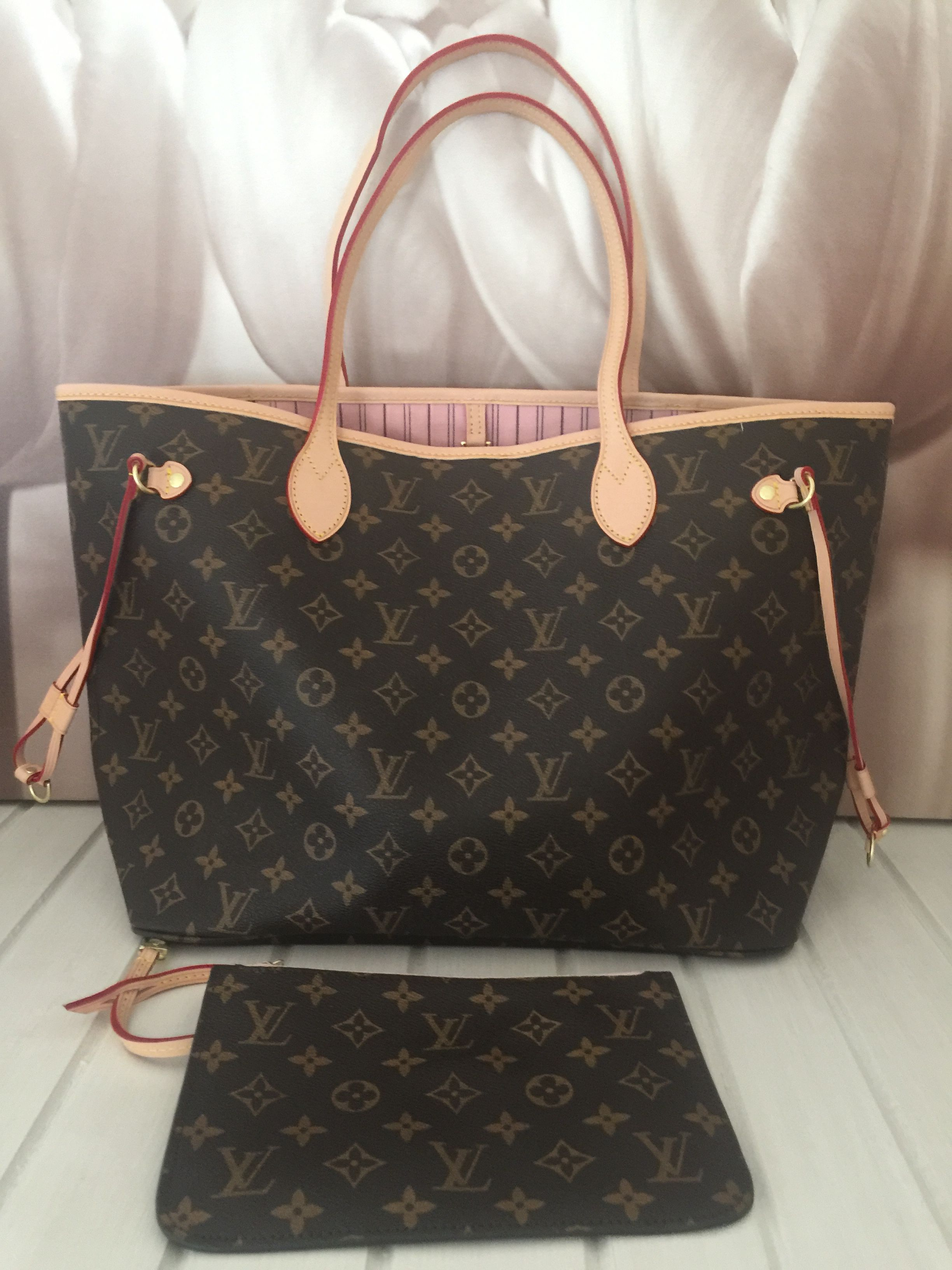 38a661d69c94 My Louis Vuitton Neverfull monogram and rose ballerine ❤